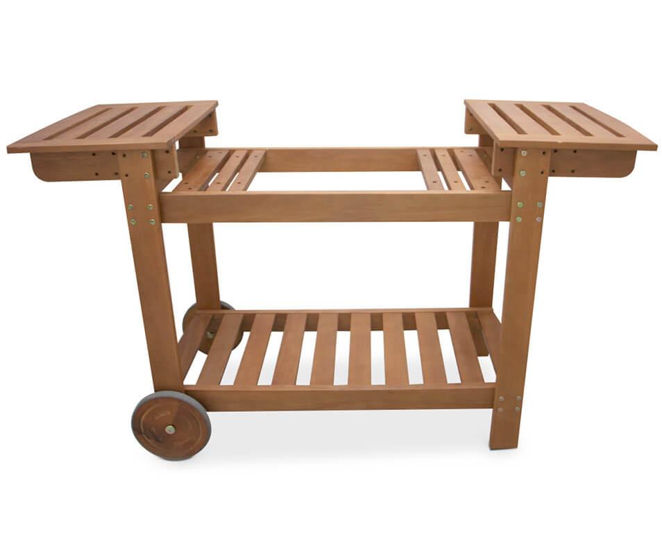 Chariot en bois pour planchas de 50 à 75 cm